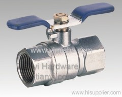 Horizontal Brass Butterfly Handle Two General Formula Hard Seal Ball Valve