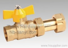 Brass Butterfly Handle Two General Formula Hard Seal Ball Valve with Flex Conuedor