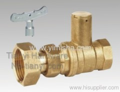 Brass Butterfly Handle Two General Formula Hard Seal Ball Valve with Flex Conuedor and Lock