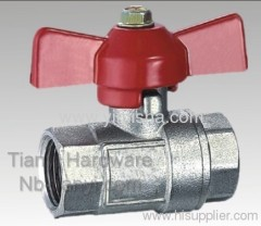 Brass Red Butterfly Handle Two General Formula Hard Seal Ball Valve
