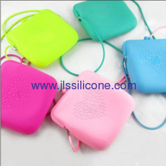 Candy color silicone shopping shoulder bag