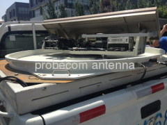0.9m auto acquire flyaway antenna