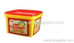 Heat transfer film for cracker box