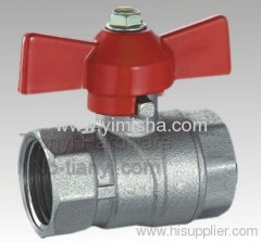 Brass Red Butterfly Handle Hard Seal Ball Valve