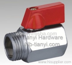 Brass Red Handle Hard Seal Ball Valve for Flooding Water