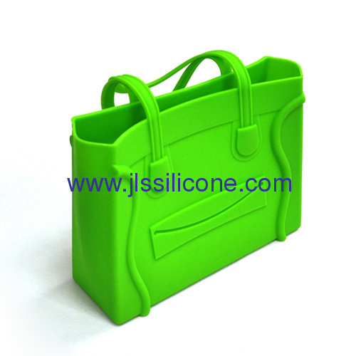 Lovely silicone shopping handbag with smile face