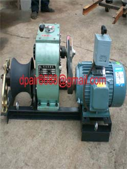 Cable bollard winch&cable pulling machine
