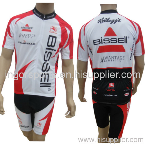 Polyester Sublimated Cycling Wear Cycle Jersey And Bib Shorts With Full  Front Zip 6126cc7f2