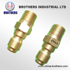 BRASS FNPT Quick Connect Plugs For High Pressure Washers