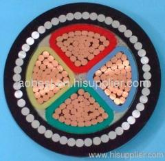 low voltage 4X95mm PVC insulated SWA underground armored power cable