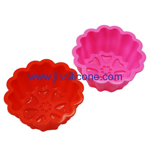 Non-stick widely used silicone muffin cake baking molds