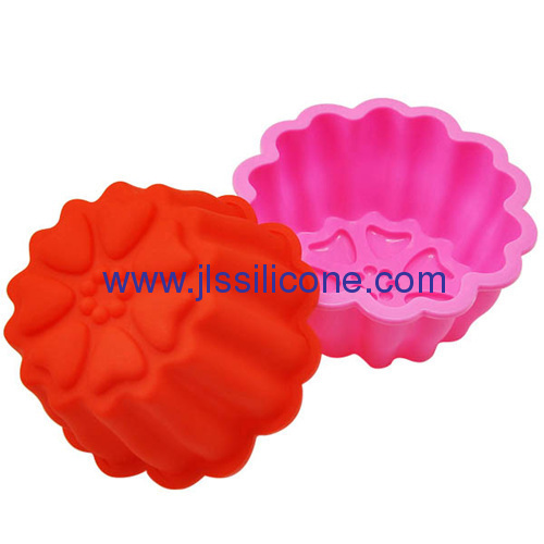 Brand new multi-heart shape large cake silicone bakeware cake pans