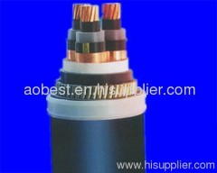 Flame retardant/copper conducto/ XLPE insulation/PVC sheathed/steel wire screen/armor/single core power cable