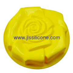 Silicone cake baking molds or forming in big rose shape
