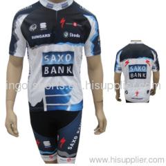 Pro Team Saxo Bank Sublimated Cycling Wear Bicycle Jerseys And Bib Shorts b55a2d882