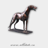 Large African Bronze Dog Sculpture