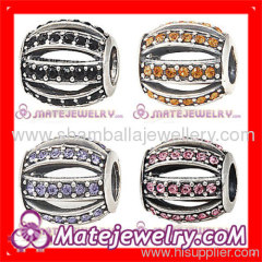 sterling silver crystal european charms