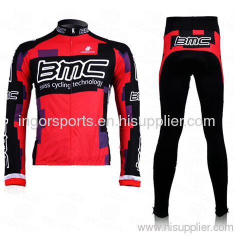Custom Pro Team Long Sleeve Bicycle Jersey and Pant Sublimated Cycling Wear 3394ef31d