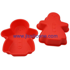 Christmas silicone bakeware of silicone snowman cake molds