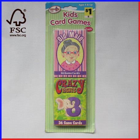 2 sets kids card games