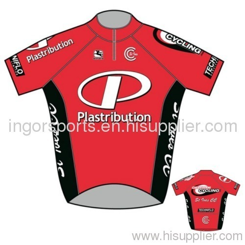 Custom Team Sublimated Cycling Wear Short Sleeve Polyester Bicycle Jersey 8b981d351