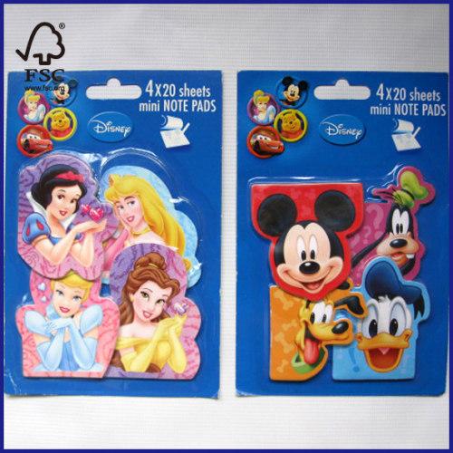 4x20 sheets mini note pads cute designs