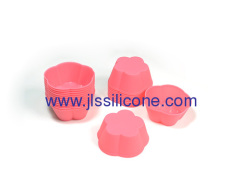 Mini daisy flower silicone cake baking pan also for jelly/candy