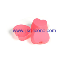 Mini pink heart silicone muffin cake baking pan