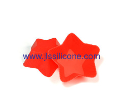 Shinning star shaped silicone cake bake pan