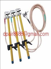 Portable short-circuit earthing rod