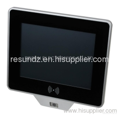 Fanless Touch Screen Panel PC with Barcode scanner and RFID reader