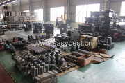 Injection molding machine has many parts.