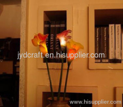 high simulation pu flower LED calla lily