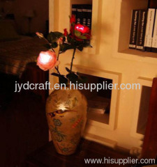 high simulation solar power LED Chinese rose