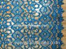 Round Flat Chemical Lace Fabric Sequin , Fashion Wedding Lace