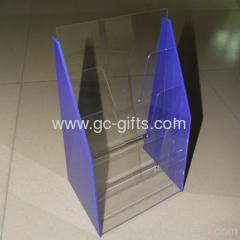 Good quality of clear and blue display stander for brochure