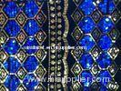 Water Soluble Sequin Embroidered Fabric , Embroidered Mesh Fabric