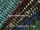 Sequin Embroidered Tulle Fabric With Border Water Soluble