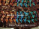 Spangle Sequin Embroidered Fabric Nylon Mesh For Dancewear