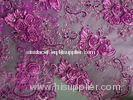 Swiss Rose Red Tulle Lace Fabric Tear-Resistant For Party