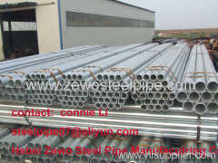 BS1387 /ASTM A53 GALVANIZED STEEL PIPE FOR WATER AND CONSTRUCTION