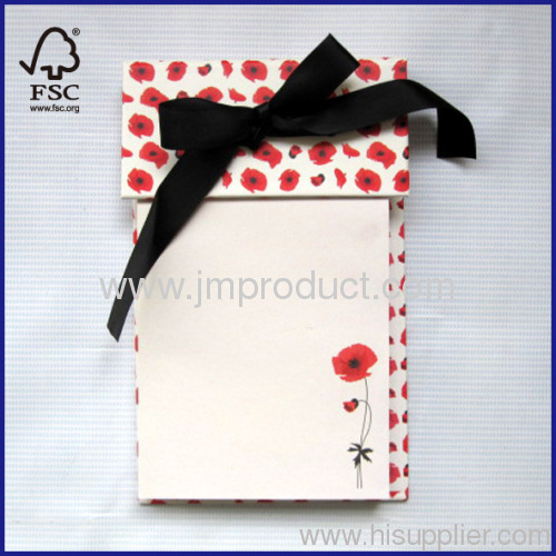 100 sheets ribbon notepad