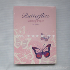 padded writing paper butterflies