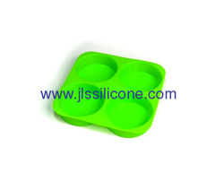 Round shaped bakeware green silicone cake baking pan