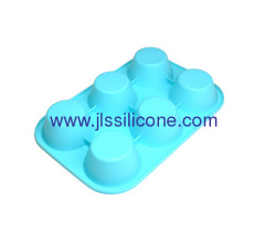 Silicone cake baking tray or soap molds