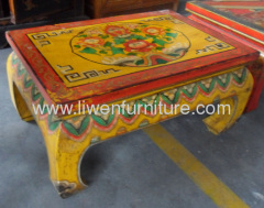 Mongolia painting Kang table