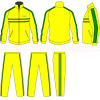 Yellow / Green Polyester Custom Sport Girls Tracksuits Sportswear Children 4 - 16