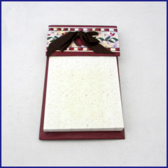 fashion memo pad with ribbon