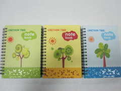 carton A6 3 subject hardcover notepad college ruled