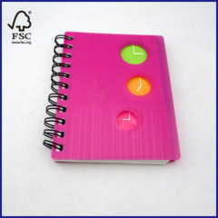 pink pp cover notebook